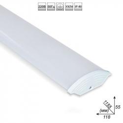 Cветодиодный светильник НКС 12/40- 40Вт. полистирол/опал